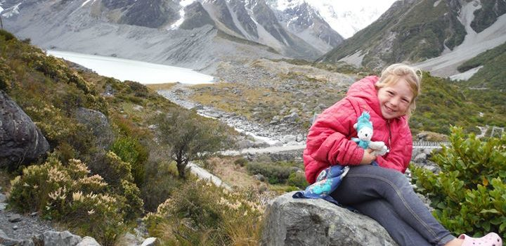 A day hike with our kids at Mount Cook